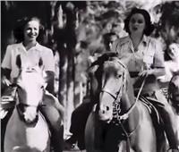 فيديو| ظهرت كـ«كومبارس».. أول مشهد صامت لهند رستم في السينما