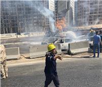 الحماية المدنية تعلن السيطرة على حريق الطريق الدائري بالمقطم