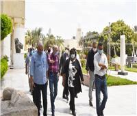 وزيرة الثقافة تتفقد عمليات الصيانة والتطوير بمتحف الفن الحديث
