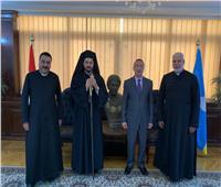 الأنبا باخوم في زيارة رسمية لمحافظ الإسكندرية
