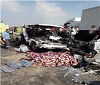 قرى مركز الباجور تكتسى بالسواد حزنا على ضحايا ميكروباص الموت بالطريق الإقليمى