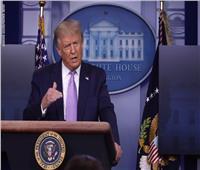فيديو| الأمن يخرج ترامب من مؤتمر صحفي بشكل مفاجئ لوجود إطلاق نار خارج البيت الأبيض