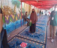 صور| يدء استقبال الناخبين في مدرسة عمرو ابن العاص بمصر القديمة