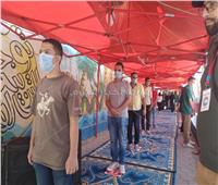 توافد الشباب للتصويت في انتخابات مجلس الشيوخ بمصر القديمة