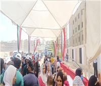 صور| إقبال كبير من المواطنين للإداء بصوتهم في انتخابات مجلس الشيوخ بلجنة الملك فهد
