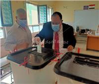 رئيس جامعة حلوان يدلي بصوته في انتخابات مجلس الشيوخ 2020