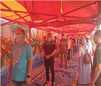 صور.. الشباب يتصدرون المشهد بانتخابات مجلس الشيوخ في مصر القديمة