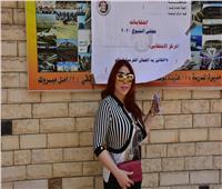 صور| غادة إبراهيم تشارك في انتخابات مجلس الشيوخ