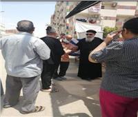 وكيل مطرانية السويس يدلي بصوته في لجنة عمرو بن العاص