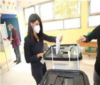 صور.. وزيرة التعاون الدولي تدلي بصوتها في انتخابات الشيوخ