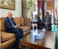 كرم جبر يلتقي رئيس بعثة جامعة الدول العربية لمتابعة انتخابات الشيوخ