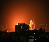 صور من القصف الإسرائيلي لمواقع بقطاع غزة ليلة أمس