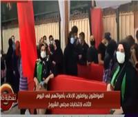 فيديو| اصطفاف المواطنين أمام لجان اقتراع الشيوخ في باب الشعرية