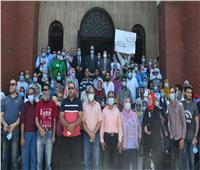 وفد من جامعة الدول العربية يتفقد اللجان الانتخابية فى الإسكندرية