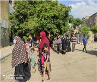 بعد انتهاء فترة الراحة.. لجنة مدرسة التوفيقية بشبرا تفتح أبوابها أمام الناخبين