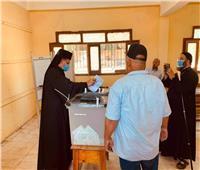 مطران الأقباط الكاثوليك بأبو قرقاص يدلي بصوته في انتخابات مجلس الشيوخ
