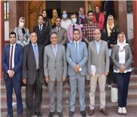 لجنة جامعة عين شمس لمحو الأمية في ضيافة الهيئة العامة لتعليم الكبار