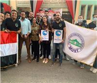 بالصور.. قيادات جامعة مصر تشارك بموظفيها في انتخابات مجلس الشيوخ