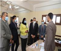 السكرتير المساعد يتفقد مستشفى سوهاج العام ومدرسة الشهيد اللواء نبيل فراج
