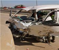 إصابة ٧ في تصادم سيارة أجرة بملاكي في الغربية