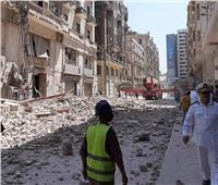 عاجل  إنقاذ 14 شخصا من العقار المنهار بقصر النيل
