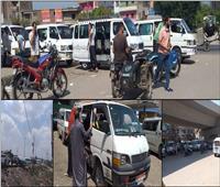 صور| «مافيا سائقي الأجرة بالقليوبية» في المواقف العشوائية.. ومواطنون: أين المسئولون؟