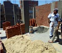 المنوفية: ضبط وإيقاف أعمال بناء بالمخالفة للقانون بسرس الليان