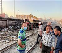 رفع ١٠٠٠ طن قمامة من بين قضبان السكة الحديد بحي ثان المحلة