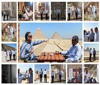 20 صورة تحكي ختام زيارة أمين عام «السياحة العالمية» لمصر بالمتحف الكبير والأهرامات