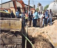 محافظ أسيوط يتفقد أعمال إصلاح كسر خط «طرد 600 مم الوليدية»