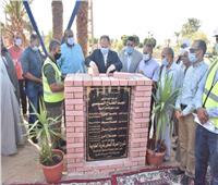 محافظ أسيوط يضع حجر أساس مشروع الصرف الصحي بالطوابية