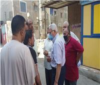 محافظ المنوفية يتابع مشكلة العمارات السكنية أمام مستشفى القصر