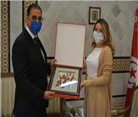 كاتبة الدولة بوزارة الشئون الخارجية التونسية تستقبل السفير المصري