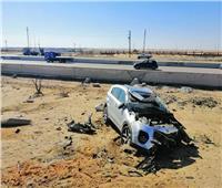 إصابة 4 أشخاص في انقلاب سيارة بصحراوي البحيرة