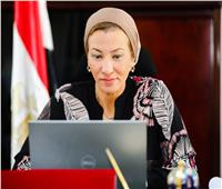 وزيرة البيئة تلتقى ورئيس مؤتمر التغير المناخى العالمى cop26