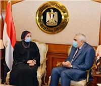 وزيرة التجارة تؤكد دعم ومساندة دولة العراق الشقيقة والمساهمة في مشروعات إعادة الأعمار