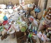 """أمن القليوبية يضبط 3 طن سلع غذائية فاسدة في """"قها"""" قبل بيعها للمواطنين"""