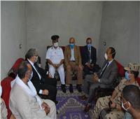 محافظ المنيا يقدم واجب العزاء لأسرة شهيد الواجب الوطني بملوي