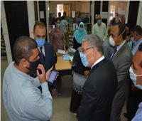 محافظ المنيا يتابع سير العمل بالمراكز التكنولوجية بمركزي ملوي وأبوقرقاص