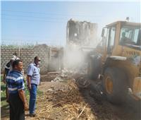 إزالة 43 حالة تعد على الأراضي الزراعية وأملاك دولة بديروط