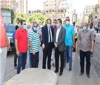 محافظ المنوفية يتفقد أعمال بدء رصف شارع الجيش بمنوف