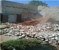 إزالة 7 حالات تعدٍ على أملاك الدولة بمركز سمالوط بالمنيا