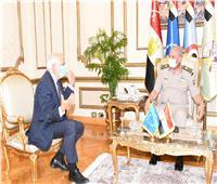 الفريق أول محمد زكي يلتقي بنائب رئيس المفوضية الأوروبية