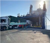 وزير النقل يتابع استئناف حركة شاحنات بضائع الترانزيت على الخط الملاحى ( سفاجا / ضبا)