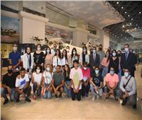 صور| وزارة الهجرة تنظم زيارة لشباب الدارسين بالخارج إلى متحف القوات الجوية
