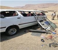 ارتفاع أعداد المصابين في حادث مروري بقنا إلى 28