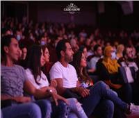 كريم فهمي ومفيدة شيحه وسعد سمير يشاهدون مسرحية أحمد عز