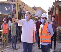 محافظ أسيوط يتفقد أعمال انشاء كوبري منقباد العلوي بطريق أسيوط القاهرة الزراعي