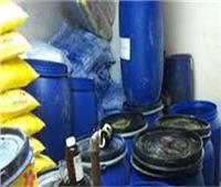 ضبط 20 طن «منظفات صناعية» مجهولة المصدر بمحافظة القليوبية