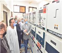 محافظ أسيوط يفتتح لوحتي توزيع كهرباء أبوتيج البحرية والزرابي